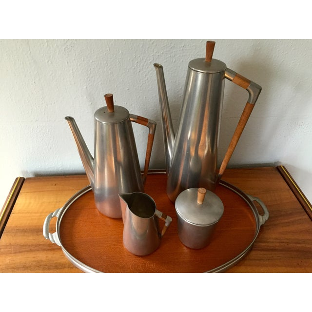 MCM Royal Holland Pewter Coffee/Tea Set for 5 - Image 3 of 5