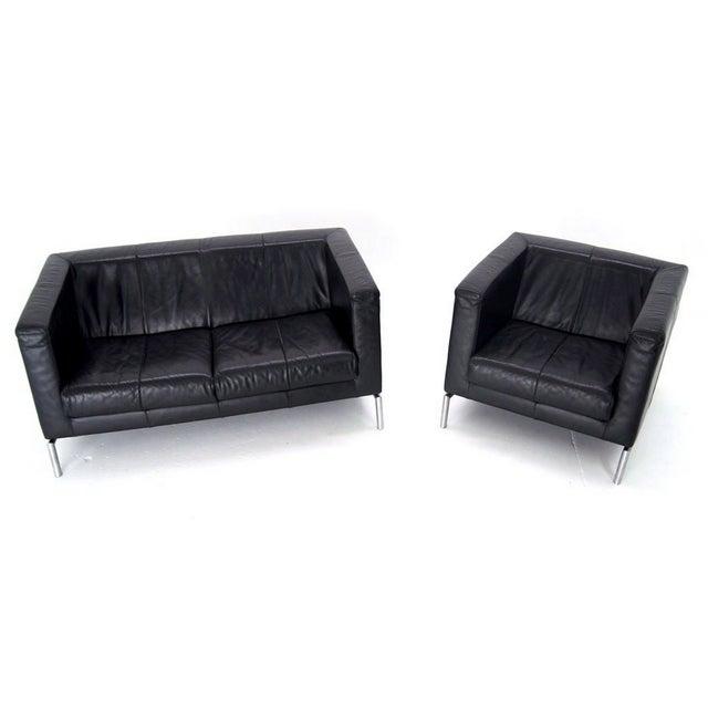 Image of Montis Gerhard Van Den Berg Leather Sofa & Chair