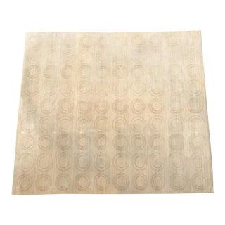 Michaelian & Kohlberg Handwoven Beige Silk Rug- 10′6″ × 12′6″