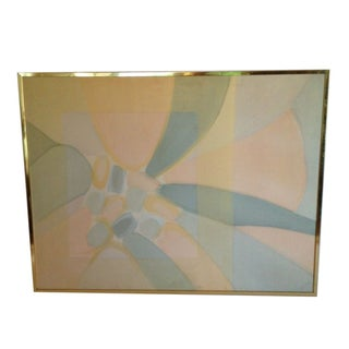Brass Frames Palm Springs Abstract Painting