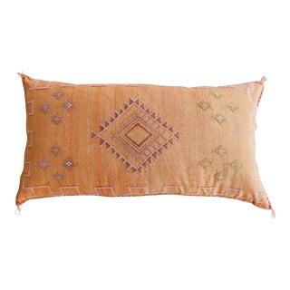 Tangerine Moroccan Sabra Cactus Lumbar Pillow