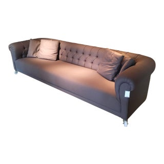Charcoal Tufted Chesterfield Sofa