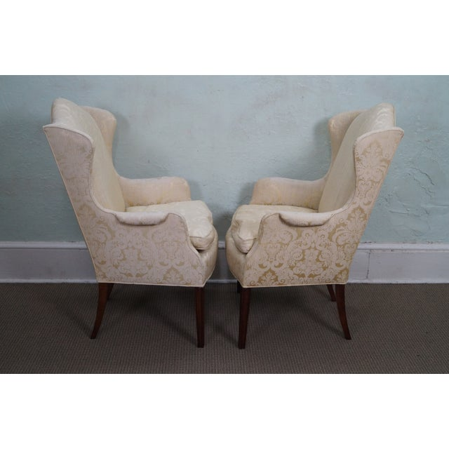Image of Kindel Mahogany Chippendale Style Chairs - A Pair