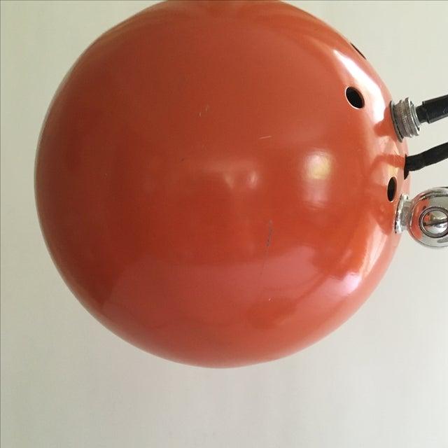 Orange Vintage Mid-Century Eyeball Lamp - Image 7 of 8