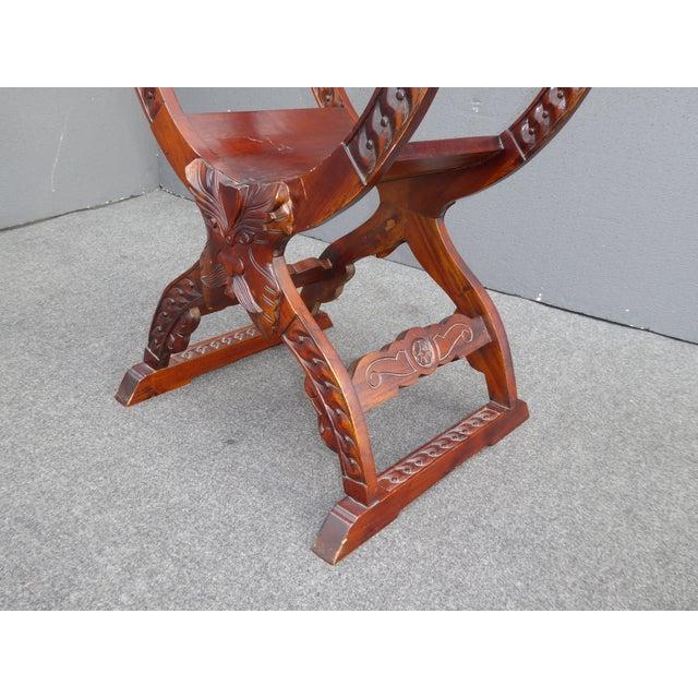 Vintage Asian Style Savonarola Chair - Image 9 of 11