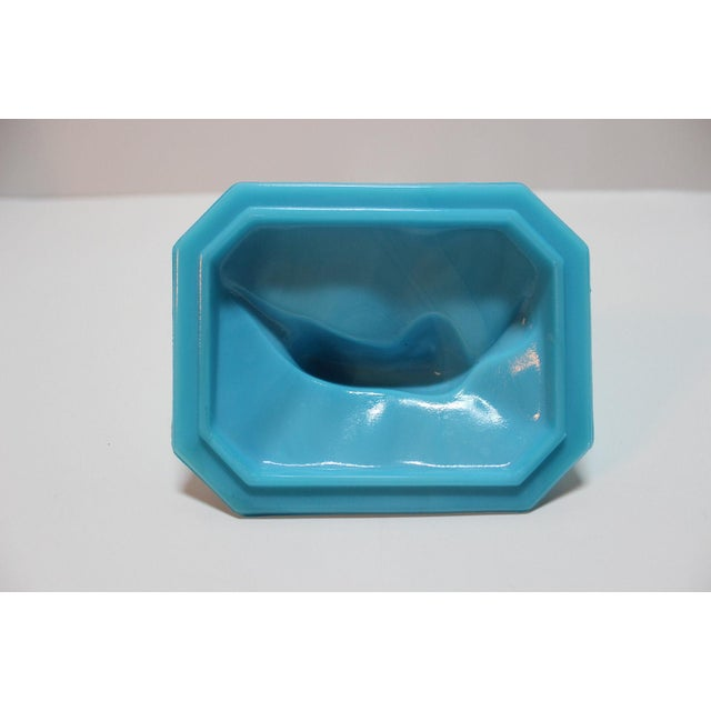 Image of French Portieux Vallersthal Blue Opaline Box