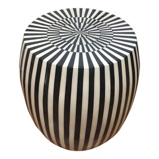 Outdoor & Indoor Striped Stool