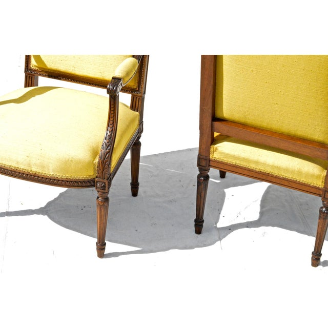 Louis XVI Fruitwood & Yellow Bergeres - A Pair - Image 10 of 10