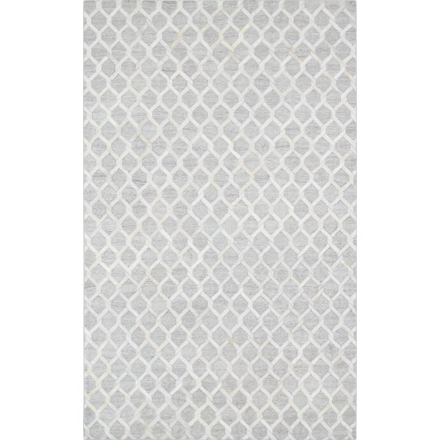 Pasargad Cowhide Hand-Loomed Sari Silk Rug - 2' X 3' - Image 1 of 4