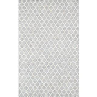 Pasargad Cowhide Hand-Loomed Sari Silk Rug - 2' X 3'