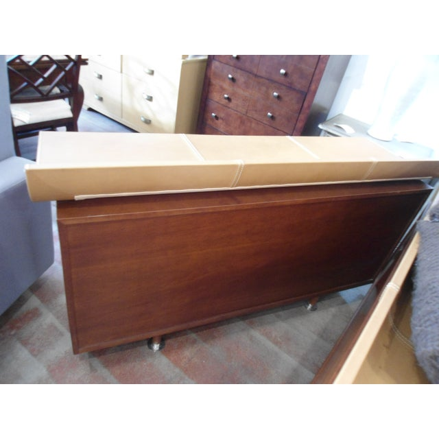 Image of Giorgetti High Curved Leather Top Dresser