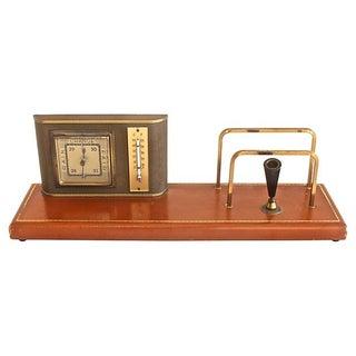 1920s Art Deco Weather Station Desk Set