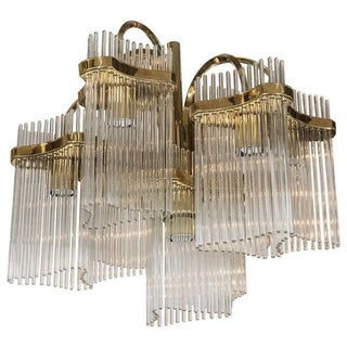 Sold Vintage Gaetano Sciolari for Lightolier Chandelier