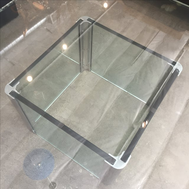 Modern Glass & Chrome Coffee Table - Image 9 of 9