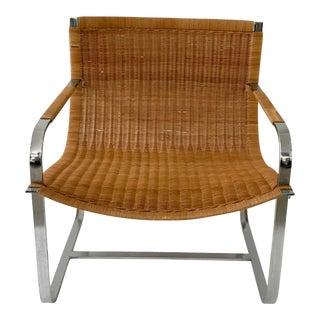 Wicker & Chrome Chair