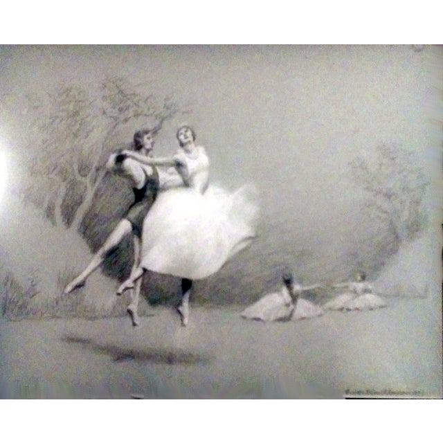 Charcoal Ballet Sketch by A. Von Munchhausen - Image 3 of 10