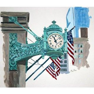 Contemporary Giclee Print - Marshall Field's Clock