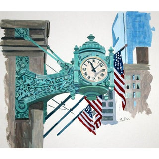Contemporary Giclee Print - Marshall Field's Clock
