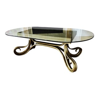 Thonet Bentwood Glass Coffee Table