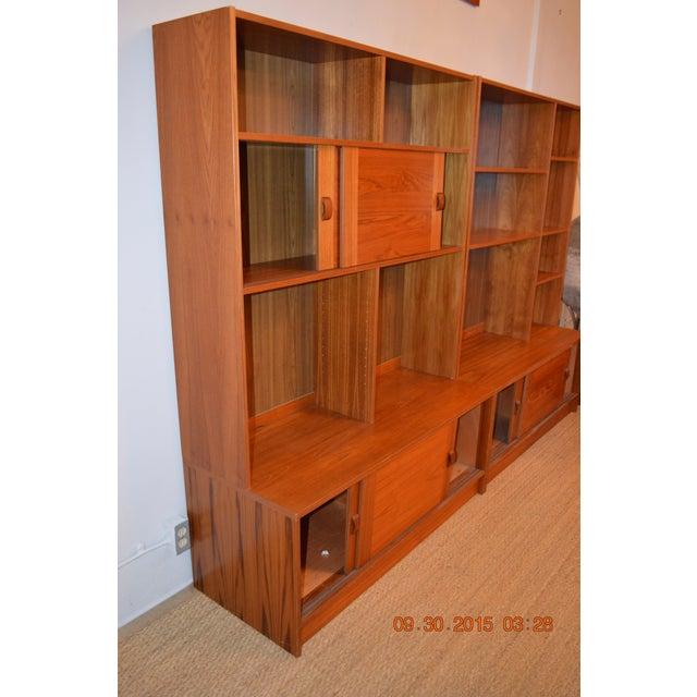2-Piece Danish Modern Bookcase - Image 5 of 10
