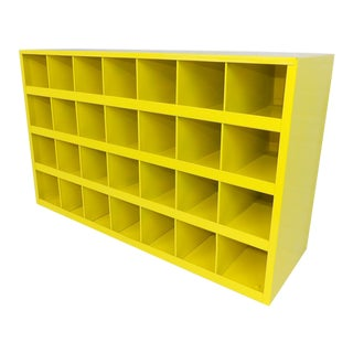 Yellow Entryway Storage Shelf