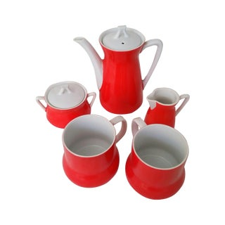 Orange MCM Coffee Set with Mugs