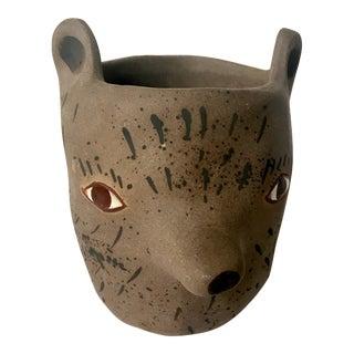 Sculptor's Animal Clay Pot