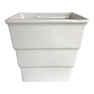 American Arts & Crafts White Ceramic Vase