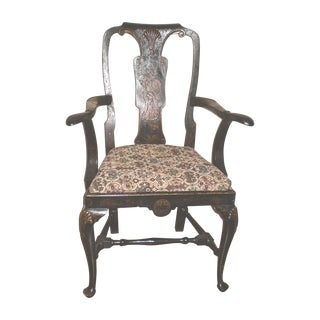 Antique Queen Anne Style ChairGently Used   Vintage Queen Anne Furniture for Sale at Chairish. Antique Queen Anne Upholstered Chairs. Home Design Ideas