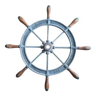 Vintage Iron Ship's Wheel