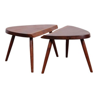 Pair of George Nakashima Wepman Tables, 1961