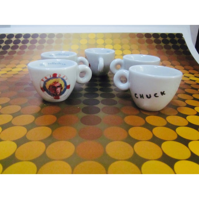 illy Espresso Cups by Julian Schnabel, 2005 - S/5 - Image 10 of 11