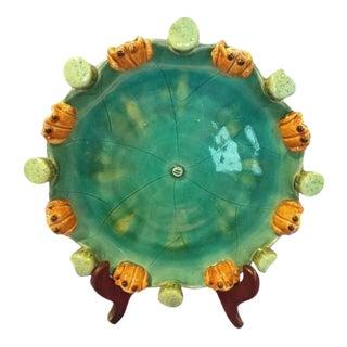Frog Motif Ceramic Plate