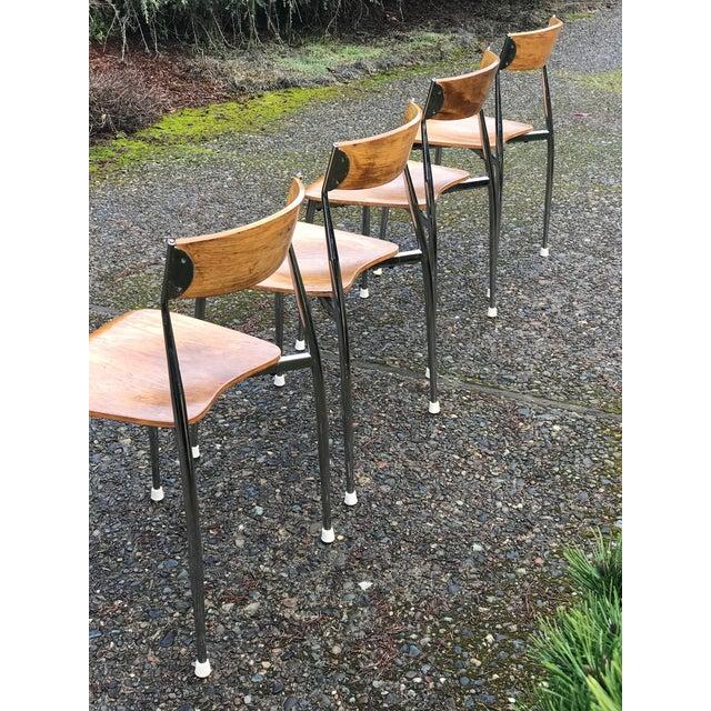 Bernhardt Mid-Century Chrome Dining Chairs - Set of 4 - Image 3 of 6