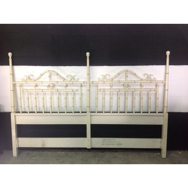 Faux Bamboo Headboard By Drexel - King Size - Image 2 of 6