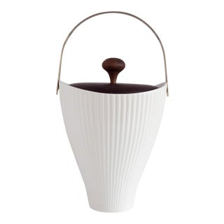 Ernest Sohn Creations Porcelain & Walnut Ice Bucket