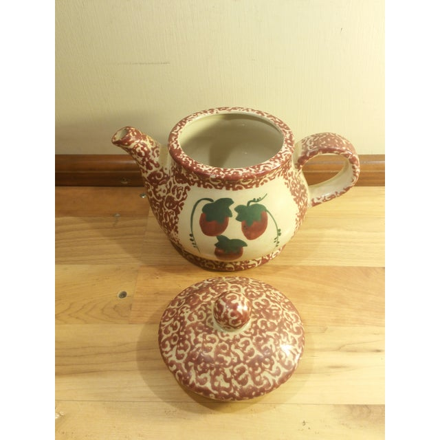 Ceramic Speckled Strawberry Motif Pitcher & Bowls - Set of 5 - Image 6 of 8