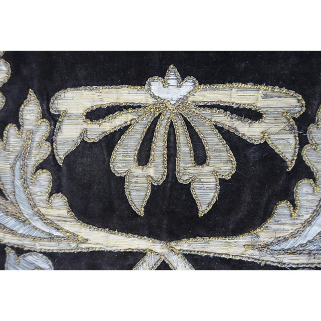 19th Century Italian Gold and Silver Metallic Appliqued Textile - Image 4 of 6