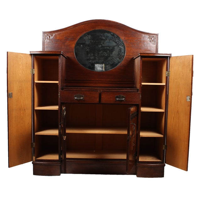 Antique German Arts & Crafts Style Cabinet - Image 2 of 7