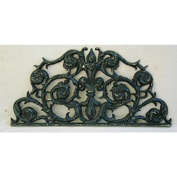 Image of Large Cast Iron Architectural Pediment Plaque