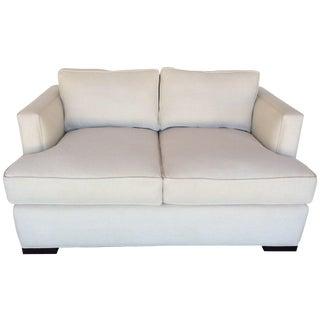 Contemporary White Love Seat