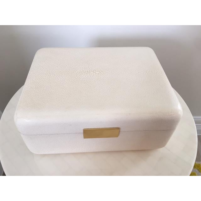 Cream Shagreen Jewelry Box - Image 3 of 6