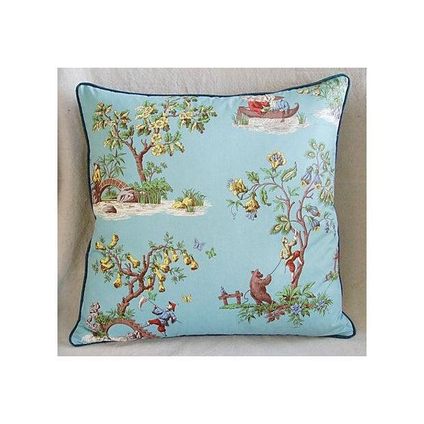 Italian Scalamandre Chinoiserie Pillows - Pair - Image 5 of 9