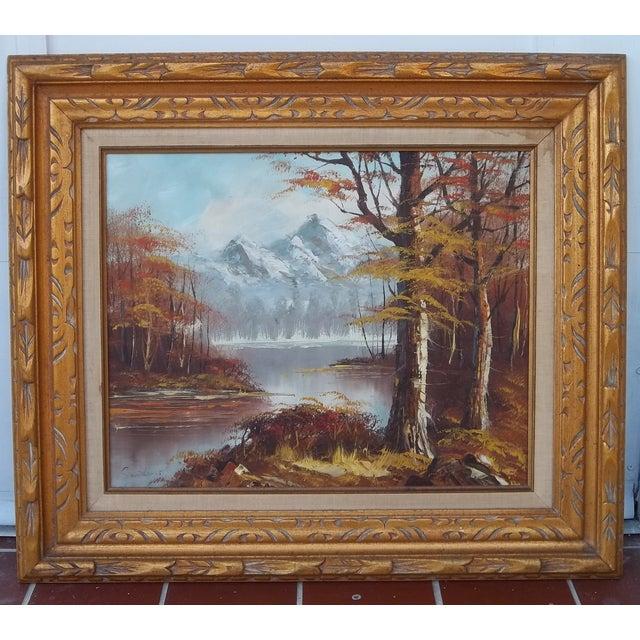 "Image of ""Autumn Landscape"" Oil on Canvas"
