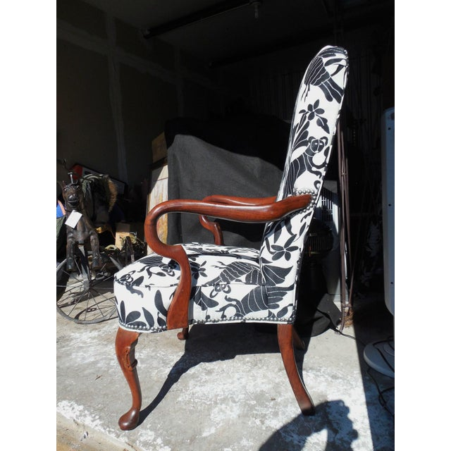 Hickory 1970's Queen Anne Otomi Armchair - Image 7 of 10