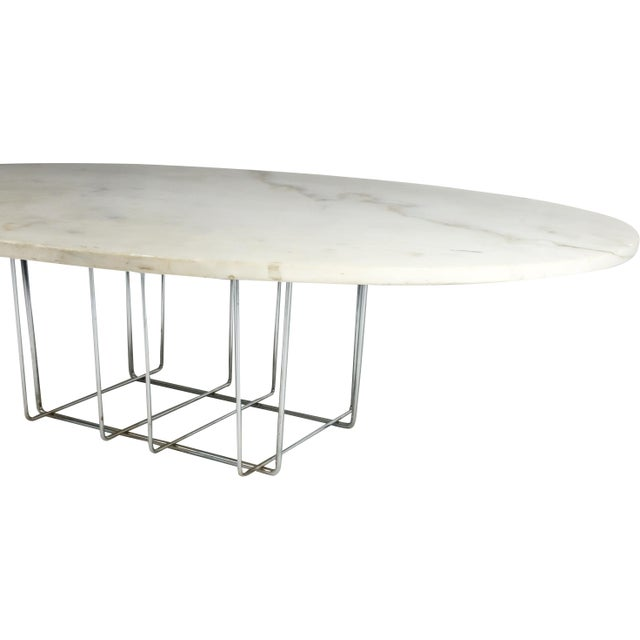 Marble & Chrome Coffee Table - Image 4 of 9