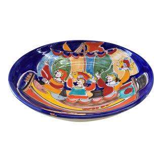 Hand Painted Italian Pottery Bowl