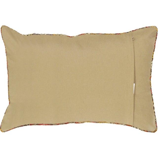 Orange Pasargad Decorative Vintage Kilim Pillow - Image 2 of 2