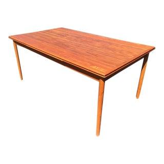 Danish Moden Teak Draw-Leaf Dining Table