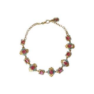 90s Versus Versace Rhinestone Statement Necklace